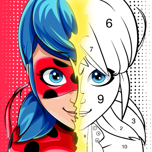 Miraculous Ladybug & Cat Noir. Color by number   Apk Pro Mod latest 1.1.2