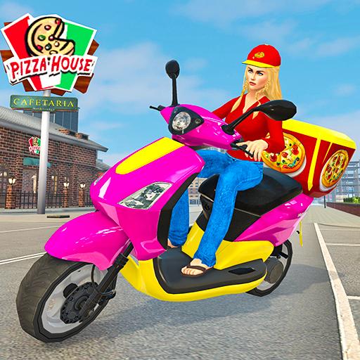 Moto Bike Pizza Delivery – Girl Food Game Apk Pro Mod latest