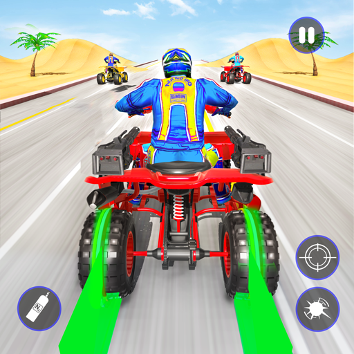 Quad Bike Traffic Shooting Games 2020: Bike Games 3.5 Apk Mod (unlimited money) Download latest