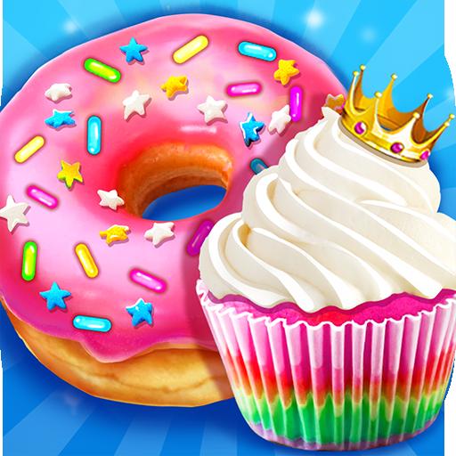 Rainbow Princess Bakery – Make Cupcake & Donut Apk Mod latest