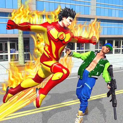 Flying Police Robot Fire Hero: Gangster Crime City 12 Apk Mod (unlimited money) Download latest