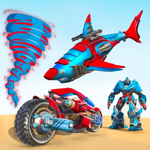Shark Robot Car Game – Tornado Robot Bike Games 3d 1.1.2 Apk Mod (unlimited money) Download latest