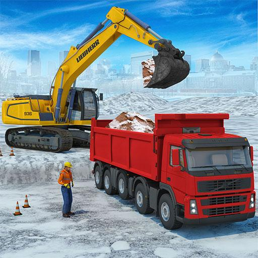 Snow excavator & road construction games 2020  Apk Mod latest