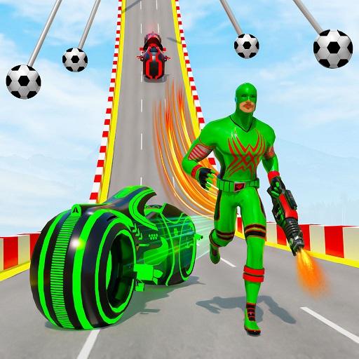 Speed Hero Robot Ramp Bike Transform Robot Games 1.7 Apk Mod (unlimited money) Download latest