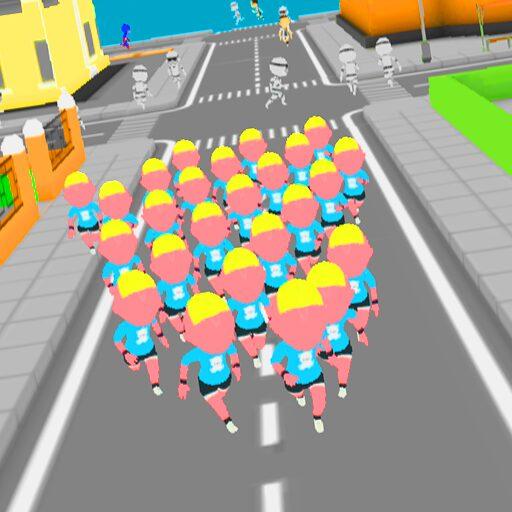 Crowd Run 3D : Multiplayer  Apk Mod (unlimited money) Download latest