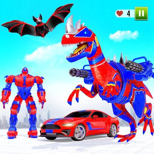 Flying Dino Transform Robot: Dinosaur Robot Games 14 Apk Mod (unlimited money) Download latest