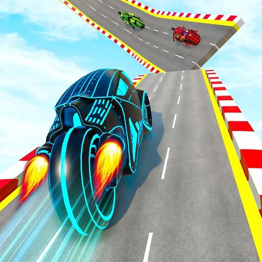 Mega Ramp Light Bike Stunts: New Bike Stunt Games Apk Mod (unlimited money) Download latest