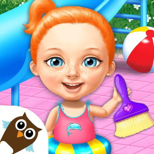 Sweet Baby Girl Cleanup 4 – House, Pool & Stable  Apk Mod (unlimited money) Download latest