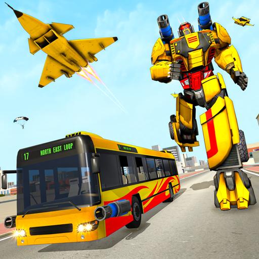 Bus Robot Car Transform: Flying Air Jet Robot Game 1.1 Apk Mod (unlimited money) Download latest