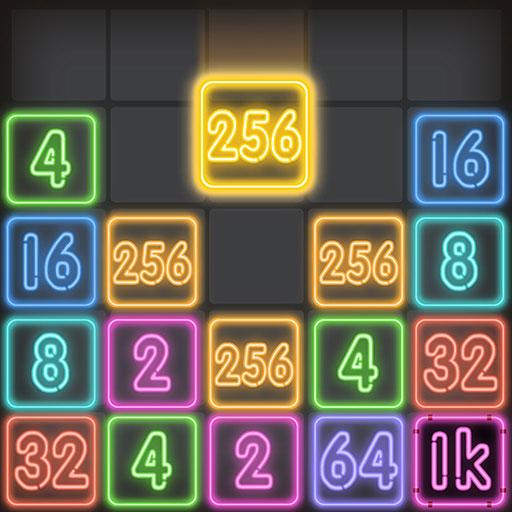 Drop Number : Neon 2048 1.0.5 Apk Pro Mod latest