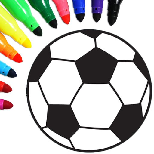 Football coloring book game 16.0.2 Apk Pro Mod latest