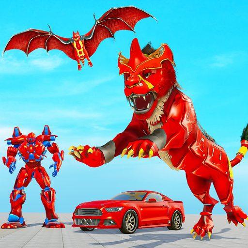 Lion Robot Car Game 2021 – Flying Bat Robot Games 1.1.3 Apk Pro Mod latest