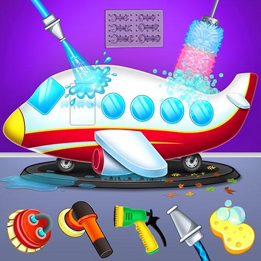 Kids Plane Wash Garage: Kids Plane Games 2.5 Apk Pro Mod latest