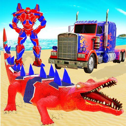 Crocodile Robot Car Transforming Mega Robot Games 28 Apk Pro Mod latest