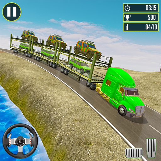 Off-Road Army Vehicle Transporter Truck 1.8 Apk Mod (unlimited money) Download latest