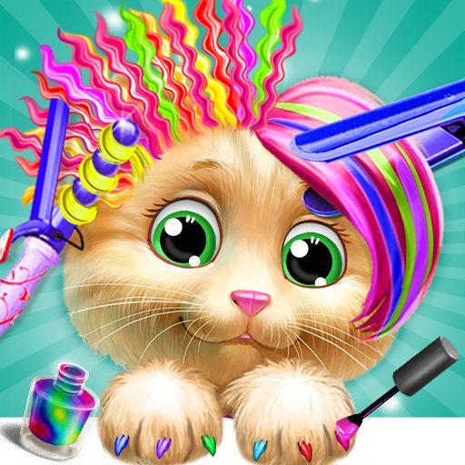 Pet Kitty Hair Salon Hairstyle Makeover 4.6 Apk Pro Mod latest
