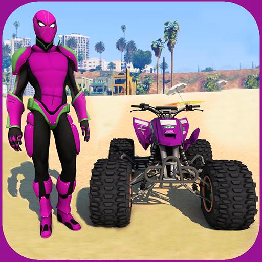 Quads Superheroes Stunts Racing 1.12 Apk Pro Mod latest