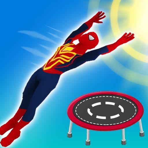 Superhero Flip Jump:Spider Sky 0.4 Apk Mod (unlimited money) Download latest